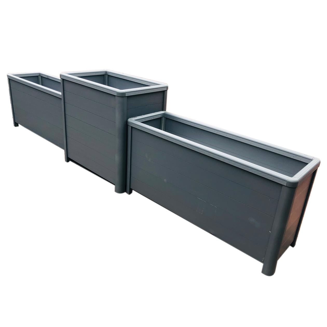 平板免钉铝合金花箱组合丽庄园林定制