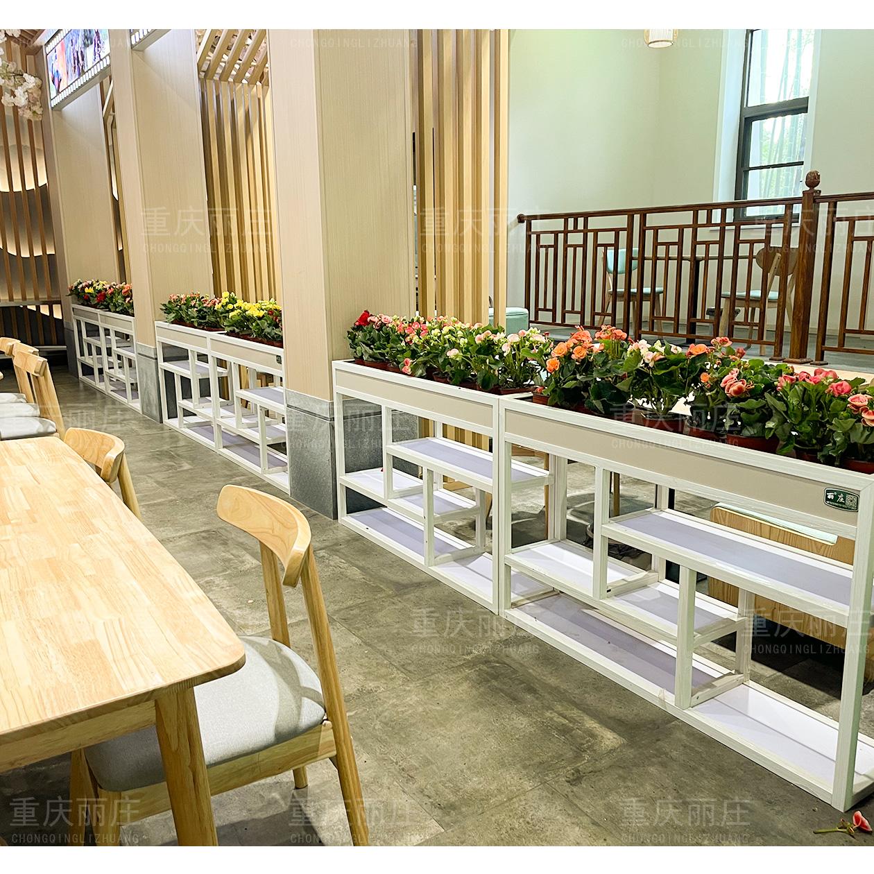 重庆铝合金花架餐厅隔断花箱厂家定制