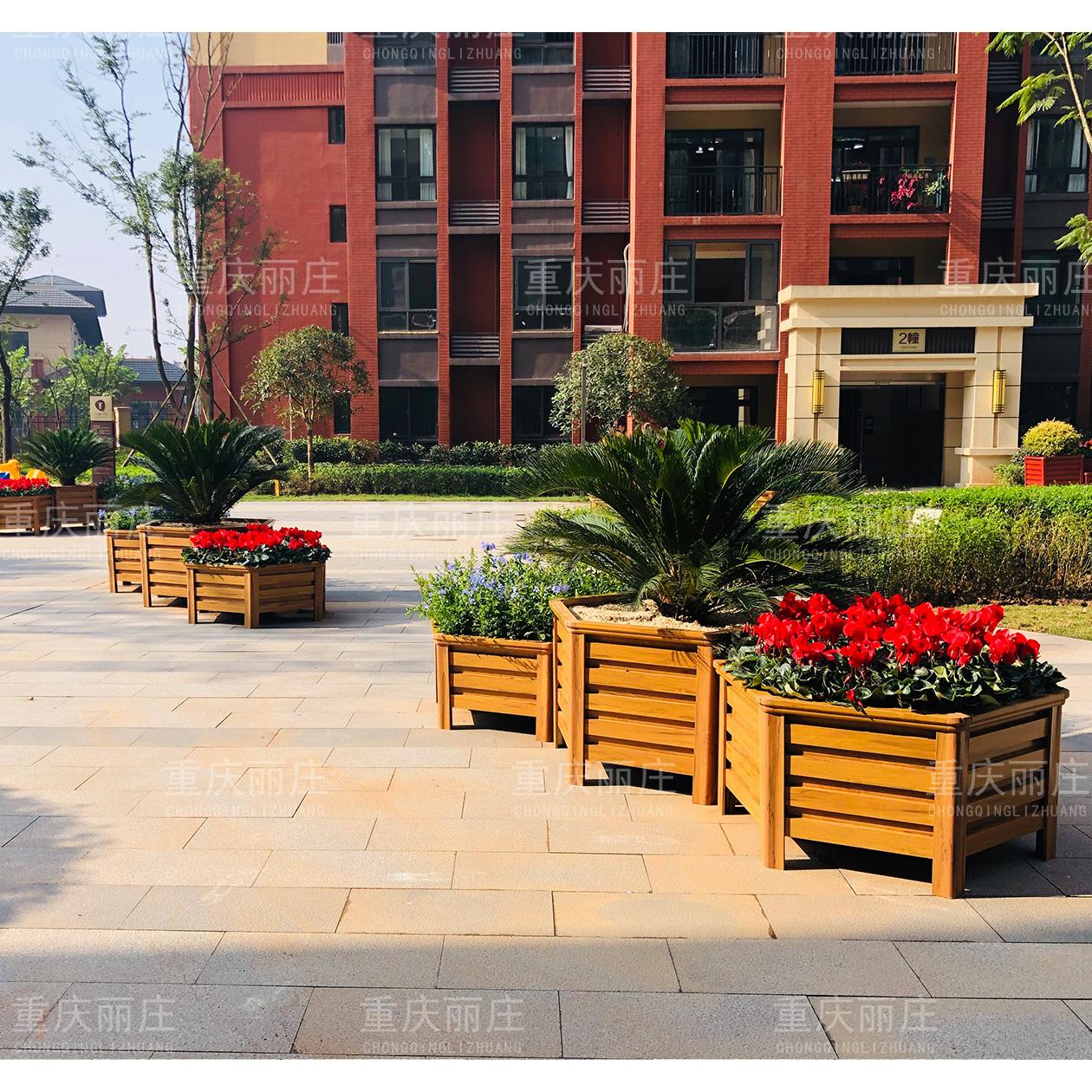 海棠新城六边形花箱